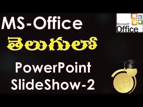 Slide Show Menu Options in MS Powerpoint Part 2 (MS Office 2003 in Telugu)