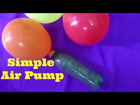 Bottle Air Pump - How To Make Air Pump Using Bottle