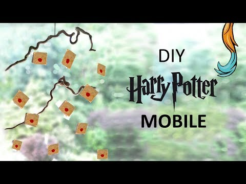 DIY Harry Potter Hogwarts letter MOBILE! (easy room decor) einfaches Mobile zum nachbasteln