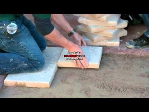 Installation of Artistic Paver on 'DIY Yard Crashers' TV show