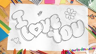 how to write i love you in fancy letters