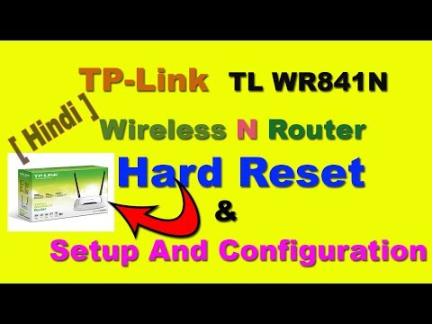 How To Reset TP Link TL WR841N Wireless N Router! also router username and password (hindi/urdu)