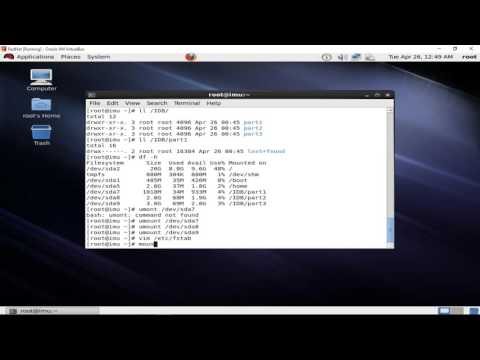 How to Create Partition using terminal on Redhat linux 6.5