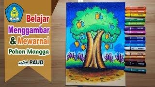 Cara Menggambar Pohon Jeruk