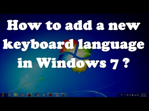 How to add a new keyboard language in Windows 7 ?