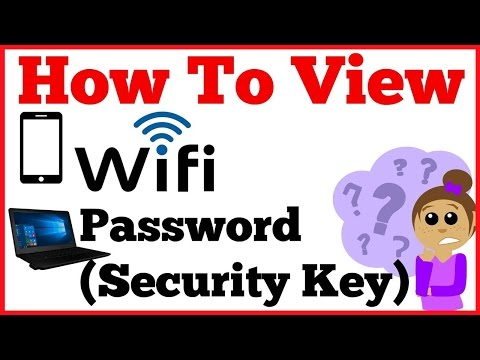 How to View your forgotten Wifi Password (Security Key) on computer