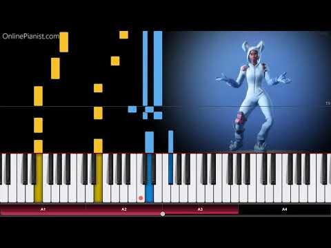 Fortnite - Hot Marat - Piano Tutorial / Piano Cover