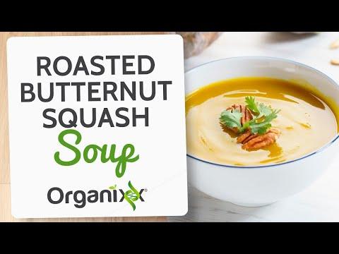 Roasted Butternut Squash Soup | Easy Vegan Recipe |  Organixx Recipe