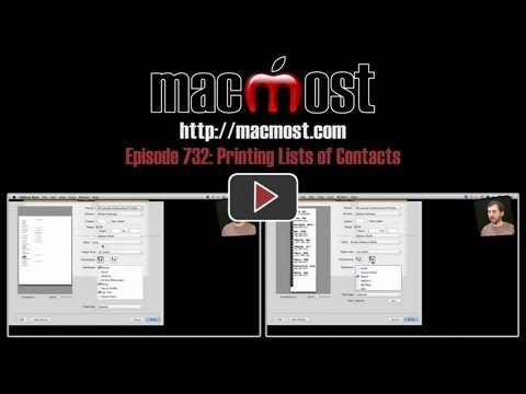 Printing Lists of Contacts (MacMost Now 732)