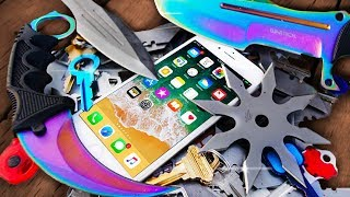 iPhone 8 ULTIMATE Scratch Test! Karambit! Hunter Knife! Katana!