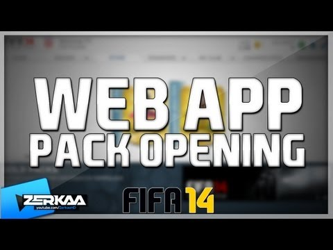 FIFA 14 Web App Pack Opening | First Packs
