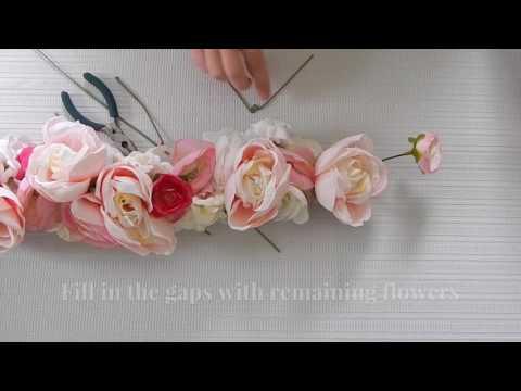 Faux Floral Garland DIY