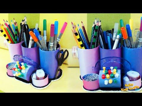 How to make a Desk Organizer? DIY