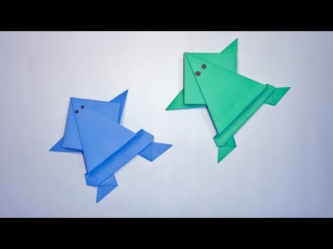 How To Make Paper Frog - Origami Frog That Jumps | Easy Paper Crafts for Kids