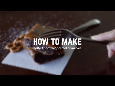 How To Make Salted Caramel Pretzel Brownies | Follow The Freemans