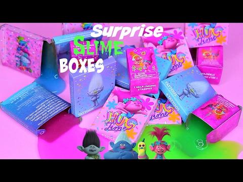 Trolls Secret Mystery Slime Boxes! DISNEY'S TROLLS SURPRISE SLIME BOXES!