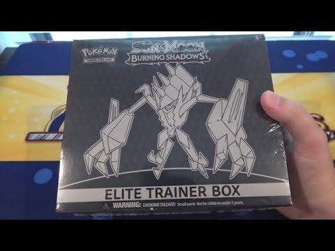 Pokemon TCG Sun & Moon Burning Shadows Elite Trainer Box Opening