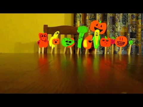 Retarted Fruit and Veggie Puppet Show.