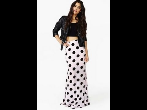HOW TO MAKE A MAXI SKIRT EASY with linning