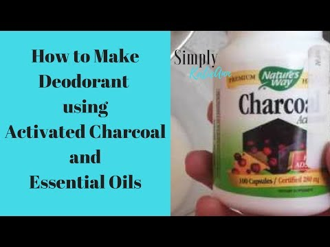 How To Make Deodorant using Activated Charcoal and Essential Oils
