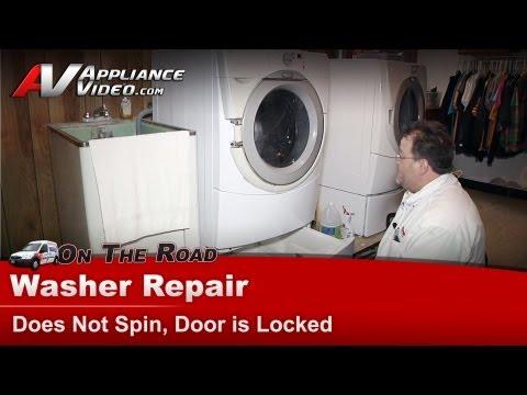 Washer Repair - Does Not Spin,Whirlpool, Maytag, Roper, Kenmore - Door is Locked - GHW9100LW1