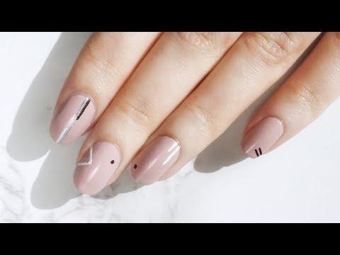 Minimal Geometric Nail Art