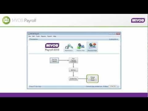 Prepare and process pays - NZ MYOB Payroll