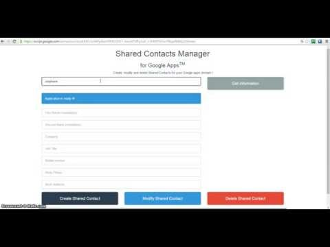 Shared Contacts Manager for Google Apps