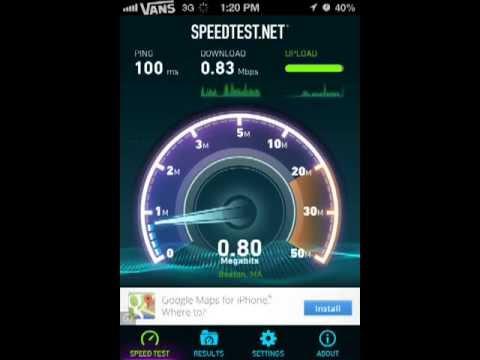 iPhone 4S Sprint Speed Test