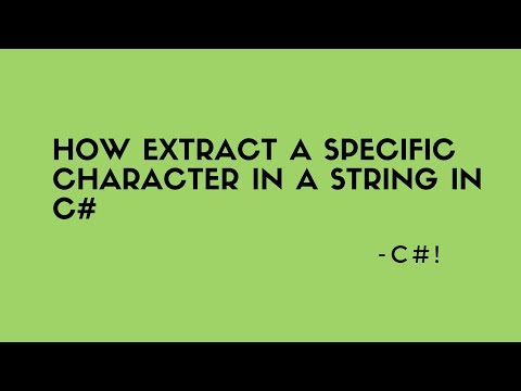 How extract a specific character in a string in c#