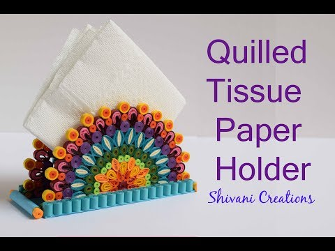 Quilled Tissue Paper Holder/ DIY Quilling Paper Napkin Stand/ Quilling Mandala