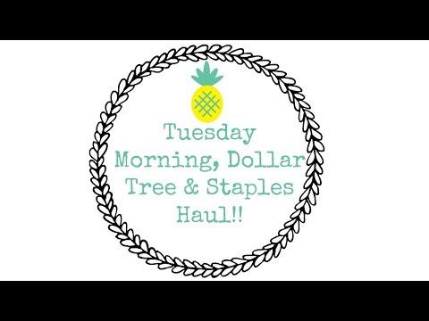 TUESDAY MORNING | DOLLAR TREE | STAPLES | HAUL!!!