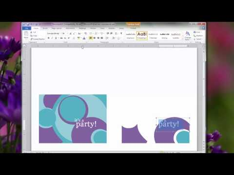 Creating Personal Invitations Using Microsoft Word 2010: Choosing a Card