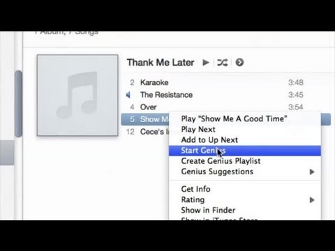 How to Display Songs on the iTunes Genius Mix Playlist : iTunes Basics