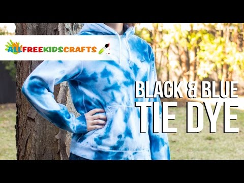 Black and Blue Tie Dye