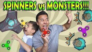 SPINNERS VS. MONSTERS!!! Free Fidget Spinner Game!