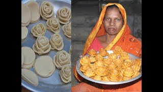 Delicious and sweet golap pitha recipe | Village food
