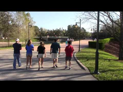 Walk From Boardwalk Resort to Entrance of EPCOT - 5 1/2 minutes Exactly
