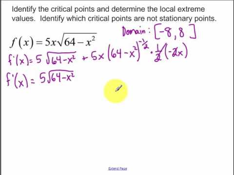 5.1 - Day 2 - Extreme Values of Functions
