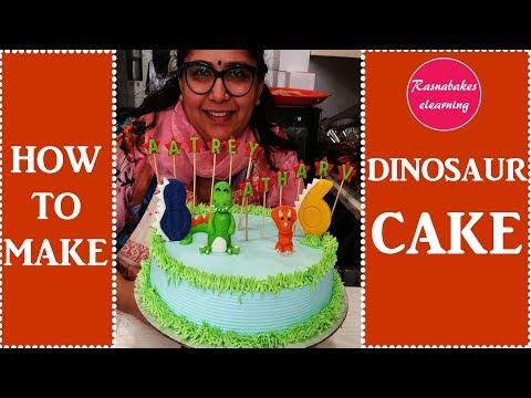 Dinosaur:Cake decorating tutorial