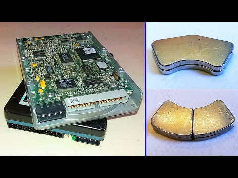 Getting Free Neodymium Magnets from HDD (Hard Drive)