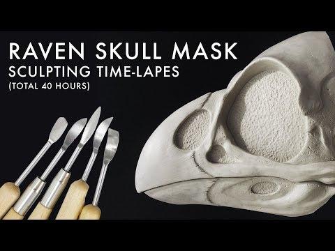 Sculpting the Raven Skull Mask Time-lapes
