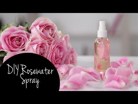 DIY Refreshing Makeup Setting Rosewater Spray   Tutorial