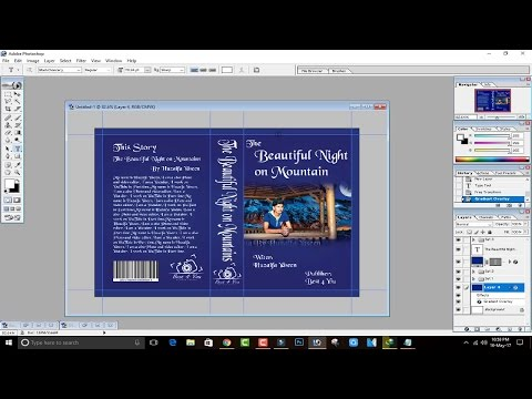 How to Design / Make a Book Cover in Photoshop 7.0 In Hindi / Urdu