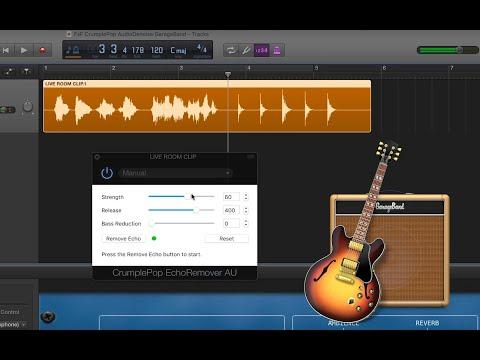 Remove Audio Echo in GarageBand