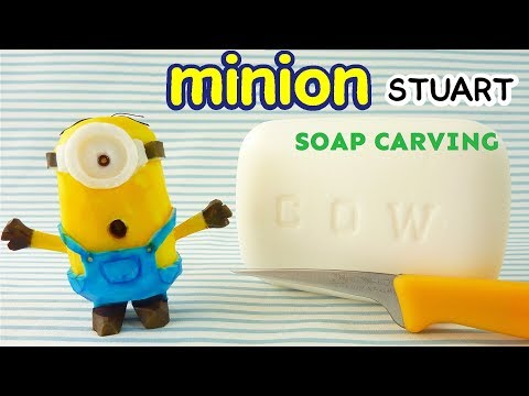 SOAP CARVING| minion STUART| How to make | DIY | Real Sound |
