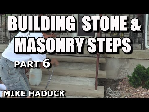 How I build stone or masonry steps (part 6 of 14) Mike Haduck