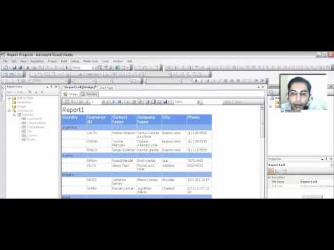 Sql Server 2008 Reporting  Services - Creating Report using Visual Studio