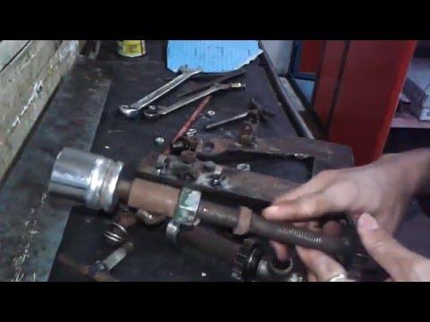 Hand made M16 gasket cutter