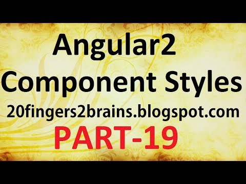Angular 2 - Add Style to Component